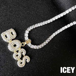 18K Gold Plated Faux Diamond Boss Tennis Chain